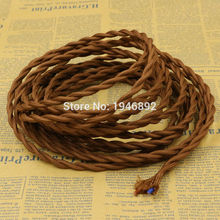5m 2x0.75 8 Colors Braided Wire Fabric Cable Braided Retro Braided Wire Electrical Wire Wire Pendant DIY Vintage Lamp Cable(China)
