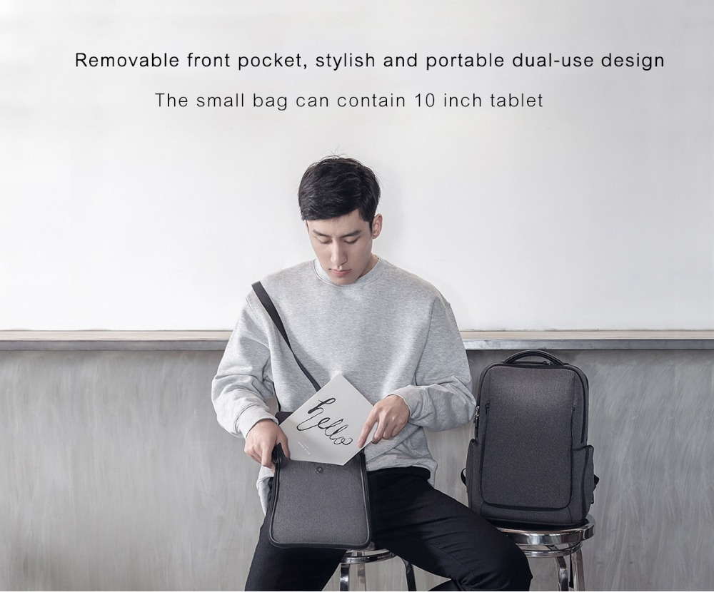 Xiaomi Fashion Commuting Waterproof backpack Removable Front Bag Big Capacity men backpacks travel backpack Laptop Bag male H0 (30)