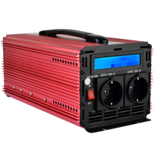 Continuous 1500W/3000W peak pure sine wave power inverter DC 24V  to 220V 230V-LCD