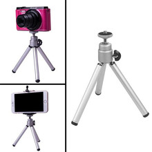 High Quality Universal Rotating Mini Tripod Holder For Camera Cell Phone supplies accessories ABS Silver adjustable Mini Tripod