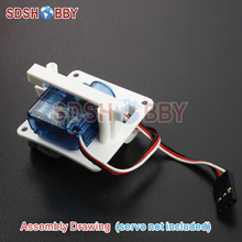 Servo Protector/Servo Mount for 6g/8g Servos White (one pair)(China)