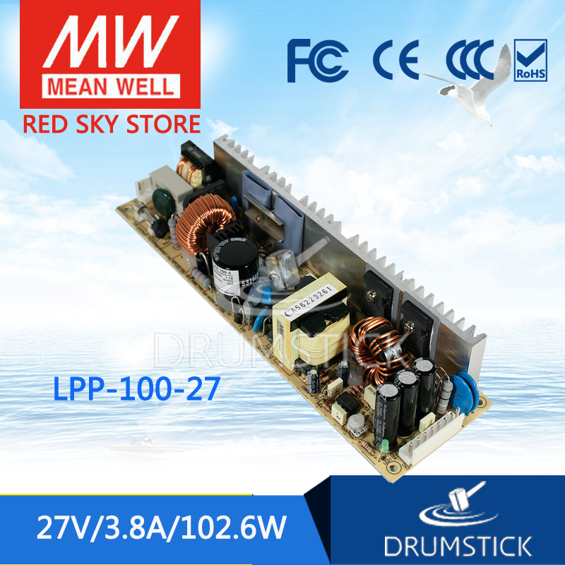 [YXYW] Selling Hot! MEAN WELL original LPP-100-27 27V 3.8A meanwell LPP-100 27V 102.6W Single Output with PFC Function<br><br>Aliexpress