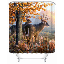 CHARMHOME 2016 New Bathroom Curtain High Quality Waterproof Bathroom Products Personalized Custom Sika Deer Shower Curtain(China)