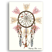 Waterproof Temporary Fake tattoo Glitter Laptop Sticker Water Transfer Colour Beauty dreamcatcher Feather Net Men Girl Body Art(China)