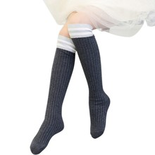 1-15Y Fashion Kids Sport Football Soccer Long Socks Over Knee High Sock Baseball Hockey Sock For Girl Clothing Accessories(China)