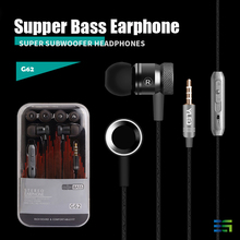 BGreen Supper Bass Metal  MP3  Cell Phone Earphone For iPod iPhone iPad Computer With Microphone In Line Control