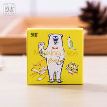 45 pcs/box  Kawaii Happy zoo stickers DIY album adhesive paper Scrapbook Notebook decoration sticker stationery kids gift