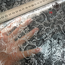 HTM-10514 Free Shipping Silver Flower Printing Water Transfer Printing Film Aqua Print Films Motorcycle/car Hydrographics Film