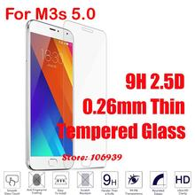Best Cheap Explosion Proof 9H Hardness Hard 2.5D 0.26mm Phone Accessories Accesories Glass Screen Protector For Meizu M3s 5.0