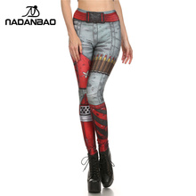 NADANBAO New Arrival Summer Fashion Design Legins COMIC BLADE AND Ammo Leggins Individuality Printed Women Leggings Pants