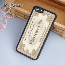 MaiYaCa Hogwarts Train Ticket Harry Potter fashion soft mobile cell Phone Case Cover For iPhone 6 6S Custom DIY cases luxury(China)