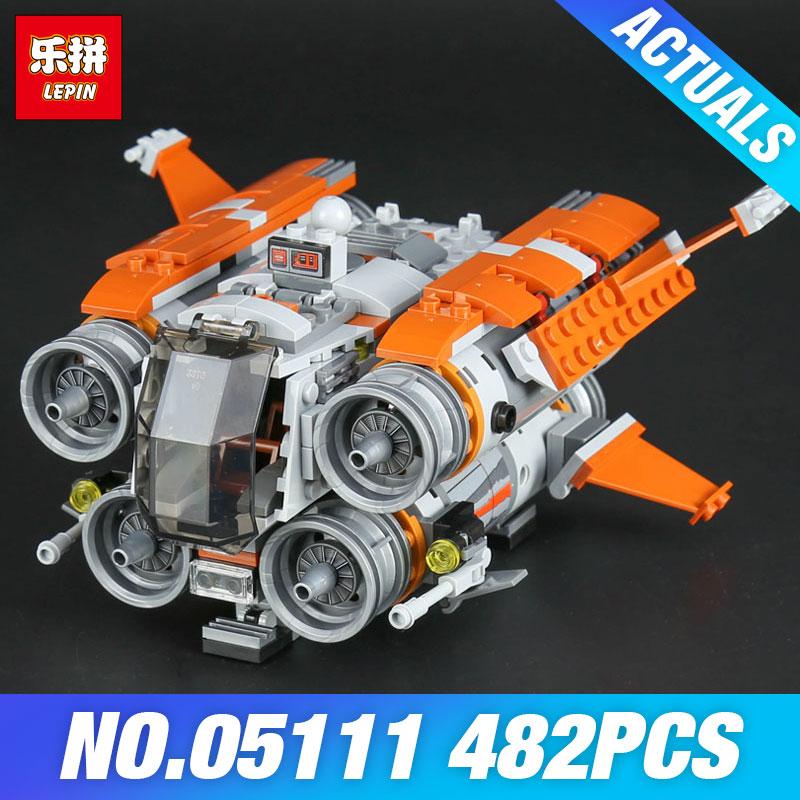 Lepin 05111 Star 482Pcs Genuine War Series The Jakku Quadjumper Set Children Educational Building Blocks Bricks Toys Model 75178<br>