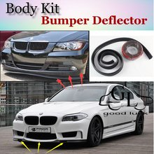 For BMW 5 M5 E28 E34 E39 E60 E61 F10 F11 F07 1988~2015 Bumper Lip Deflector Spoiler For Car Tuning / TOPGEAR Front Skirt / Strip