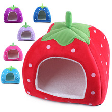 Strawberry Dog Bed Warm Puppy House For Medium Dogs Cage Cat Pet Products