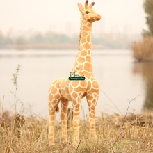 Dorimytrader 55'' / 140cm Large Stuffed Soft Plush Giant Emulational Animal Giraffe Toy Great Gift Free Shipping DY60659