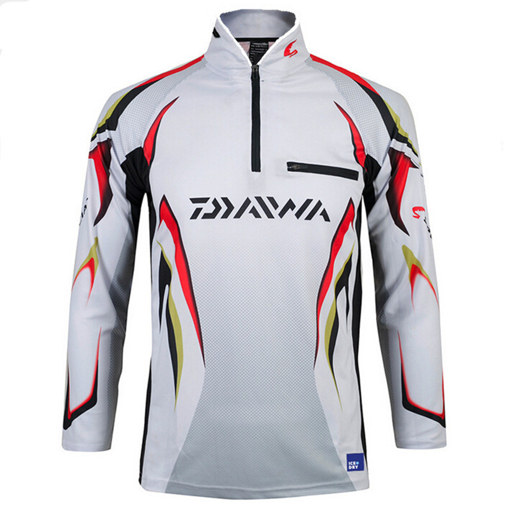 New arrival! 2017 Daiwa Men Fishing Clothes UV Protection Moisture Wicking Quick-drying Breathable Fishing Shirt camisas hombre<br><br>Aliexpress