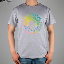 Buddhist Bodhisattva head COLORFUL BUDDHA T-shirt Top Lycra Cotton Men T shirt New DIY Style