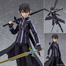 [PCMOS] Japanese Hot Anime Sword Art Online II Kirito ALO Ver. Painted PVC Figure Figma 289 SAO Model Toy No Retail Box 5927-L