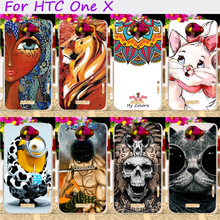 Hard Plastic Cool Skull Cute Minions Flower Phone Cases For HTC One X S720E G23 4.7 inch Phone Cover Phone Shell Accessories