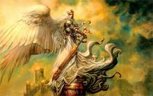 Painting By Numbers Cuadros Decoracion Wall Art Fantasy Magic The Gathering Avenging Angel 4 Sizes Fabric Canvas Poster Print