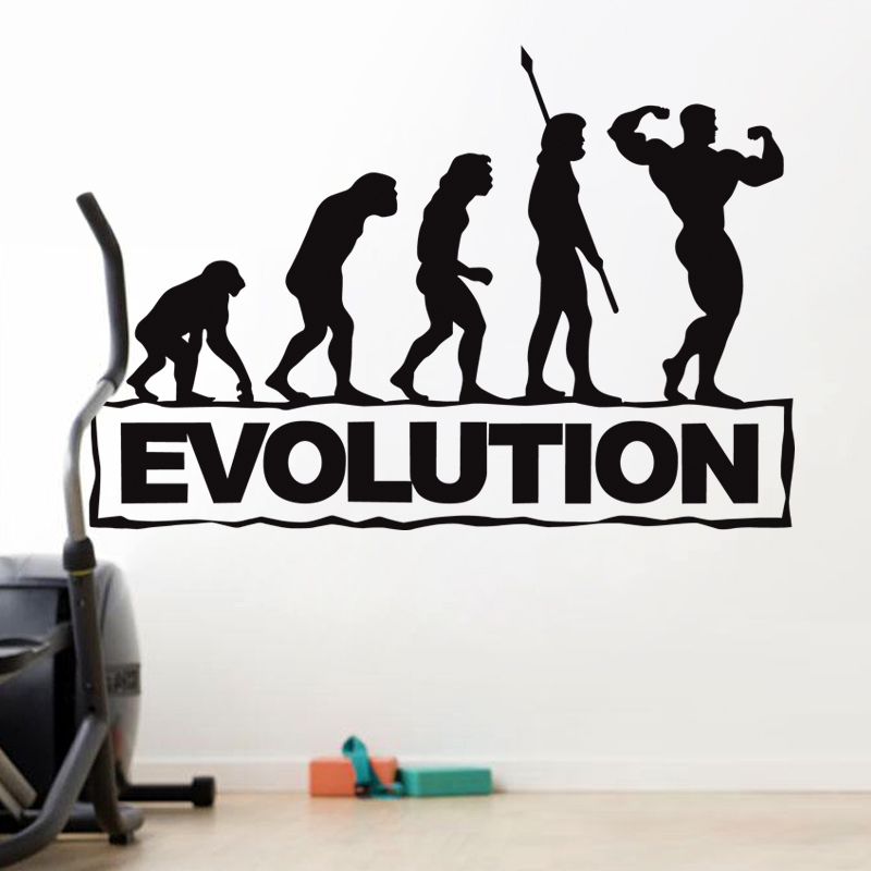 Gym Sticker Fitness Arm Crossfit Muscle Decal Body-building Posters Vinyl Wall Decals Parede Decor Gym Sticker JSL016