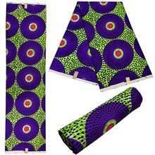Nice Looking 100% Cotton Super Wax Fabrics Print African Real Fabric Print Super Wax Hollandais For Garment Nice Color JLB100-64