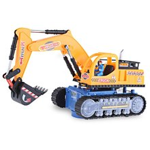 HOT Sale Musical Excavator Flashing Wheel Builder Machine Car Kids Early Learning Toy Children Educational Birthday Gift(China)