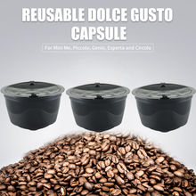 3pcs/pack Refillable 2nd Dolce Gusto coffee Capsule nescafe dolce gusto reusable capsule dolce gusto capsules dolce gusto refill(China)