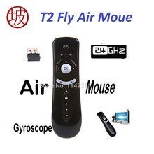 2.4G Wireless Gyroscope Fly Air Mouse T2 Mice Android Remote Control 3D Motion Stick Combo Computer Peripheral Free Shipping(China)