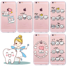 Tooth Love Heart Design Soft Phone Case Cover for iPhone 6 7 SE 5 5S 6S 6Plus Ultra Thin Silicon Lovely Back case fundas
