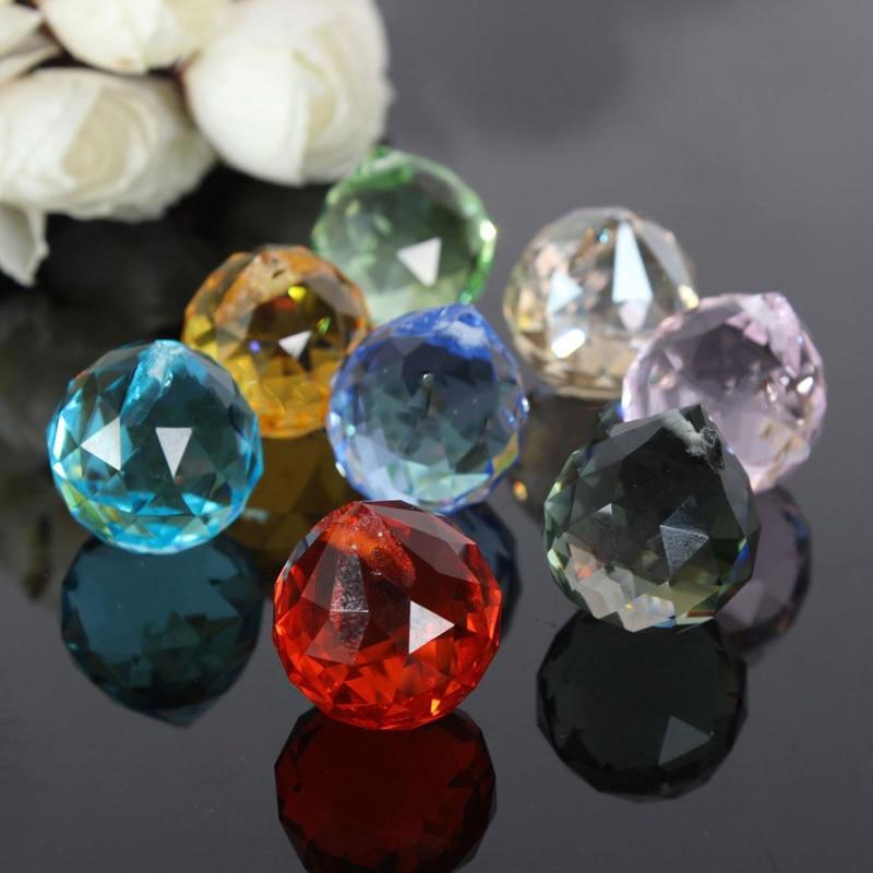IKVVT  8Pcs Rainbow Chandelier Crystal Light Lamp Part Ball Prisms Suncatcher Pendant