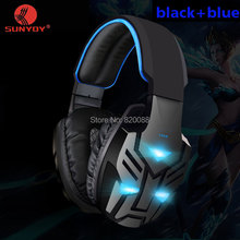 2016 New Gamaing Headphone LED Light Breathing Bass Stereo Top Quality Headsets Headband Computer Game,Free Shipping