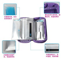 Insulin glaciated cold storage bag refrigerated box portable refrigerator medical heat packs drug freezer pack with 2 ice pads(China)