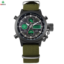 Men Sport Watches LED Digital Analog Wristwatches 2017 Multifunction 30M Waterproof Fashion Casual Nylon Quartz Sport Watch Men