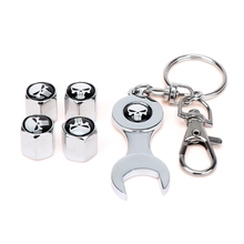 4 Pieces/Pack with Wrench and Keychain Air Cap Car-styling Car Wheel Caps Anti-theft Bicycles Valve Caps Tire Valve Caps(China)