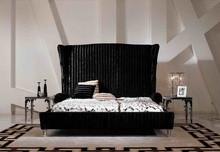 designer modern fabric bed / soft bed/double bed king size bedroom furniture(China)