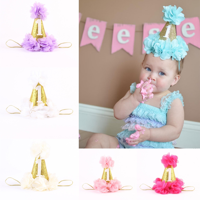 Baby Newborn Infant Kids Lovely Birthday Party Flower Crown Hair Band Headwear Hair Accessories accessoire cheveux Hairbands  <br><br>Aliexpress