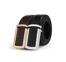 Black Stylish Designs Genuine Leather Belt Cowskin Wide Straps Fashion Golden Silver Alloy Buckle Hole Belts Fast Shipping