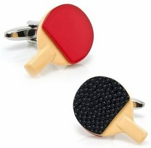 Manufacturers direct supply of high quality hot cuffs copper strange personality table tennis rackets modeling cufflinks