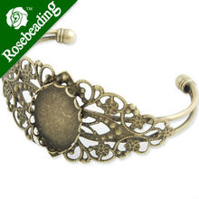 Best sale Bracelet With 18*25MM Oval Setting,Cuff,Adjustable,Antique Brozen-Plated Brass,Lead Free And Nickel Free(China)