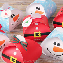 Christmas gift boxes, christmas decoration, holiday gift box, christmas favor box 30pcs/lot(China)