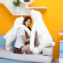 90cm Huge Rabbit Large White Soft Stuffed Plush Rabbit Doll Toy Korea Long Arm Rabbit Super Cute Baby Appease Christmas Gift C59