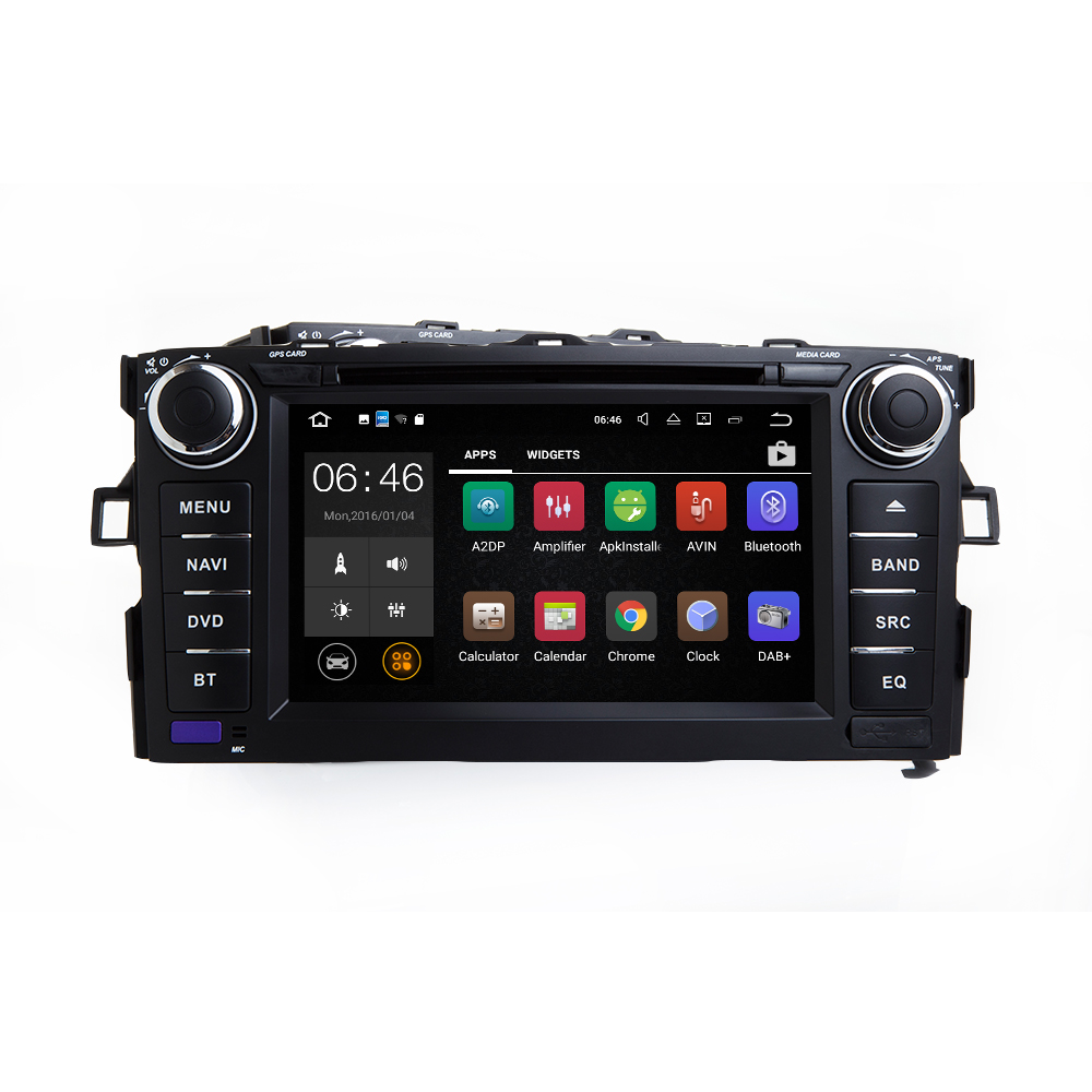 For 7″ android 5.1 car stereo multimedia for Toyota corolla 2012 with MP3 DVD BT Mirror link radio