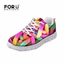 FORUDESIGNS 2017 Spring Women Casual Flat Shoes Lightweight Cute Candy Color Designs Female Lace-up Ladies Woman Flats - WORKSHOP store