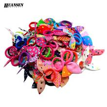 HUANSEN 20pcs/lot hair ornaments Floral Elastic hair bands Scrunchy Gum for hair ties girls baby Fashion Women hair accessories