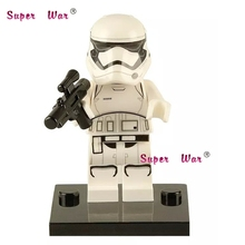 Single Sale star wars Classic Stormtrooper with Blaster Gun building blocks action sets model bricks toys for children(China)