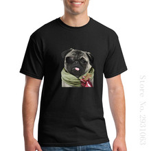 T Shirt Men 2017 Hot Sale For Men Shirts The Phantom Pug Round Neck Short Sleeve T Shirts(China)