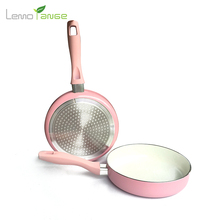 Ceramic Coating Frying Pan Lemorange 20cm Mini Pink Non-stick General Use For Gas And Induction Cooker TQQ0066