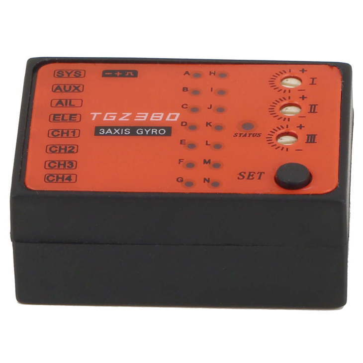 MB TGZ380 3 Axis Gyro Flybarless System For ALIGN TREX T-REX etc. 450 550 600 700 RC Helicopter FBL DFC<br>