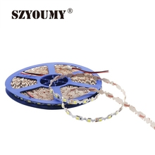SZYOUMY 10M LED Strip 5050 600 Leds 12V Ultra Narrow 8mm S Shape Signages Channel Light Strip Bendable Billboard Lamps